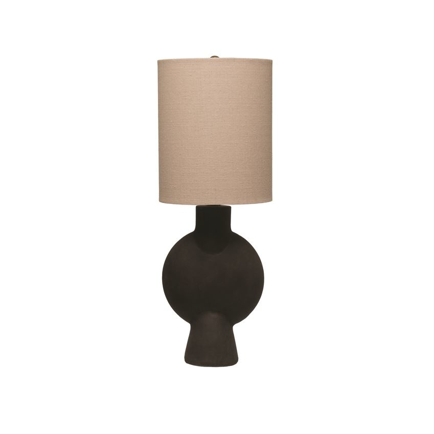 "Grey Terracotta 21"" Table Lamp"
