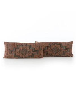 Tribal Rust Lumbar Pillow