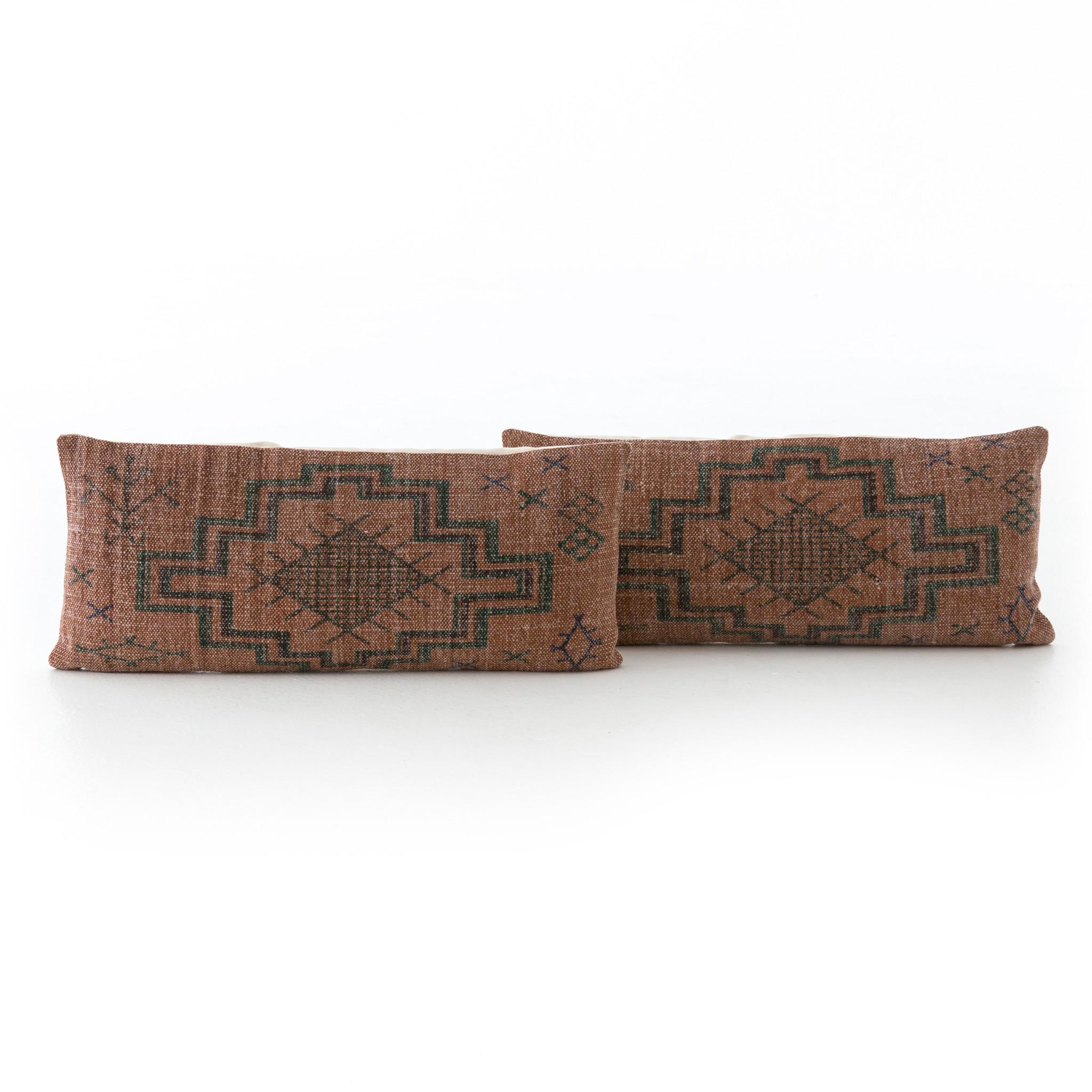 Tribal Rust Lumbar Pillow
