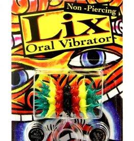 JJK INDUSTRIES Lix Non Piercing Oral Vibrator Rasta Multi-color