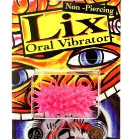 JJK INDUSTRIES Lix Non Piercing Oral Vibrator Glow In Dark Pink