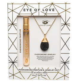ENTRENUE Eye of Love Drop Necklace - Gold - After Dark