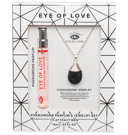 ENTRENUE Eye of Love Drop Necklace - Silver - One Love