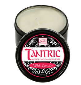 CALEXOTIC Tantric Soy Massage Candle with Pheromones White Lavender