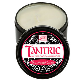 CALEXOTIC Tantric Soy Massage Candle with Pheromones Pomegranate Ginger