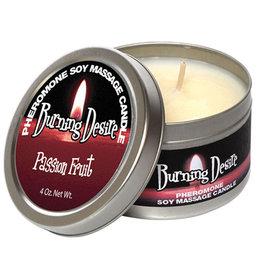 CLASSIC BRANDS Pheromone Soy Massage Candle, Burning Desire, Passion Fruit,