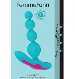 FEMMFUN Femmefunn Funn Beads Vibrating Anal Beads Turquoise Blue