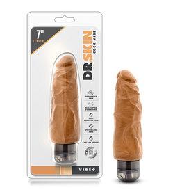 Dr. Skin - Cock Vibe - 7.5 inch vibrating cock - Mocha