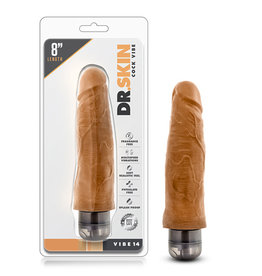 Dr. Skin - Cock Vibe - 8 inch Vibrating Cock - Mocha