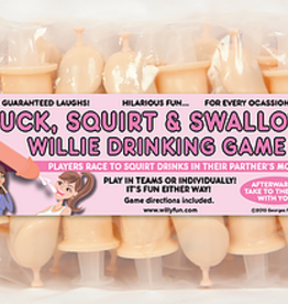 Suck, Squirt, & Swallow Willie Drinking Game - 15 Pack