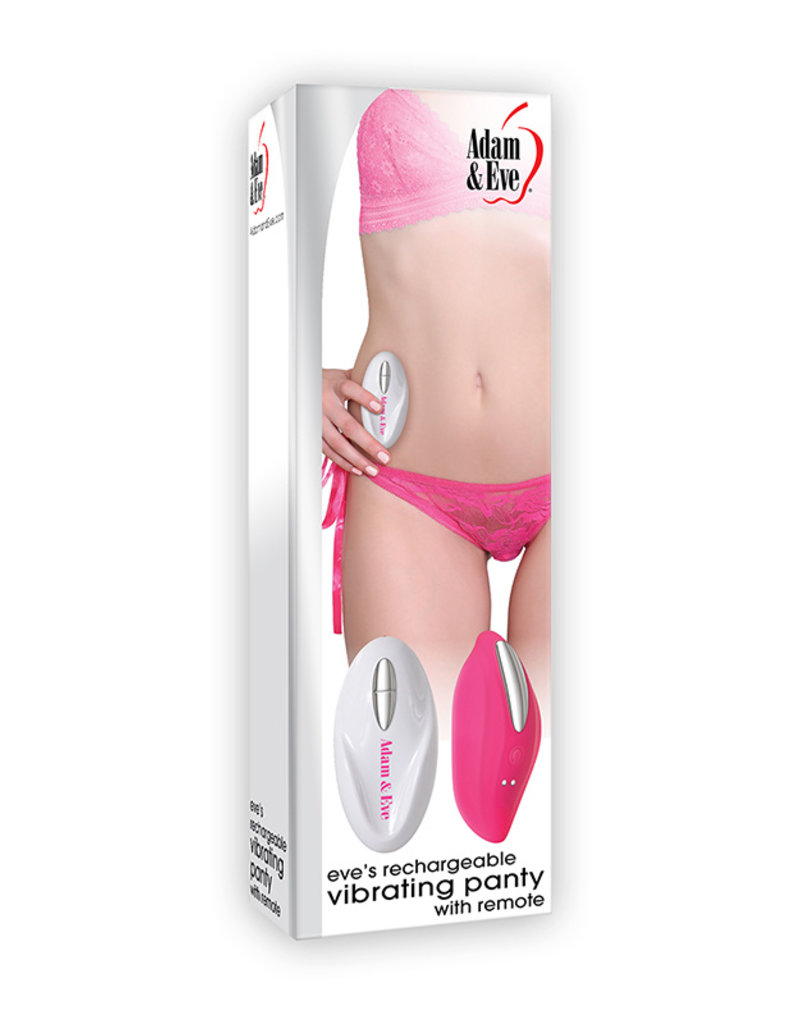 A&E Eve's Rechargeable Vibe With Panty Remote Controlled 12 Functions and Speeds USB Cord Included Waterproof