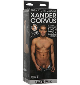 Signature Cocks - Xander Corvus - 9in ULTRASKYNCock w/Removable Vac-U-Lock Suction Cup Vanilla