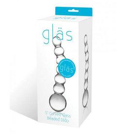 Glas 6in Curved Glass G-Spot Dildo`