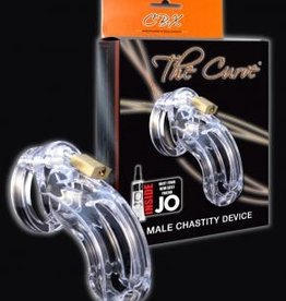 """CB-6000 3 3/4"""" Curved Cock Cage and Lock Set - Clear"""