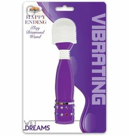 Wet Dreams Happy Ending Play Diamond Wand - Purple
