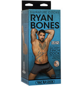 Signature Cocks - Ryan Bones -7in ULTRASKYN Cock w/Removable Vac-U-Lock Suction Cup Vanilla