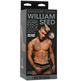 Signature Cocks - William Seed - 8in ULTRASKYN Cock w/Removable Vac-U-Lock Suction Cup Vanilla