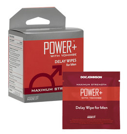 Power Plus With Yohimbe - Delay Wipes for Men - 10 Pack