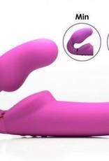 10X Evoke Ergo-Fit Inflatable & Vibrating Strapless Strap-On Dildo Pink
