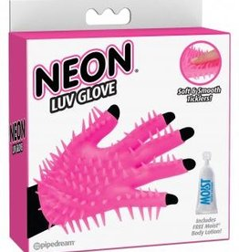 Neon Luv Glove Soft Smooth Ticklers O/S