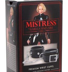 Isabella Sinclaire Premium Leather Wrist Cuffs Black