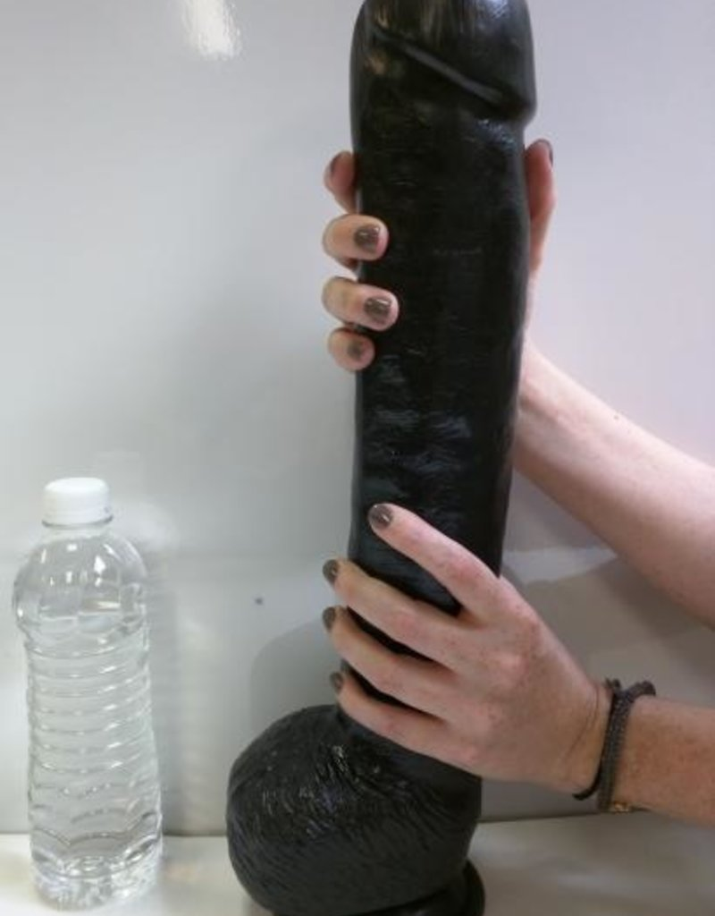 The Black Destroyer Huge 16.5 inches Dildo