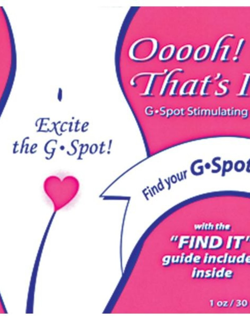 Ooooooh! That's It! G-Spot Gel