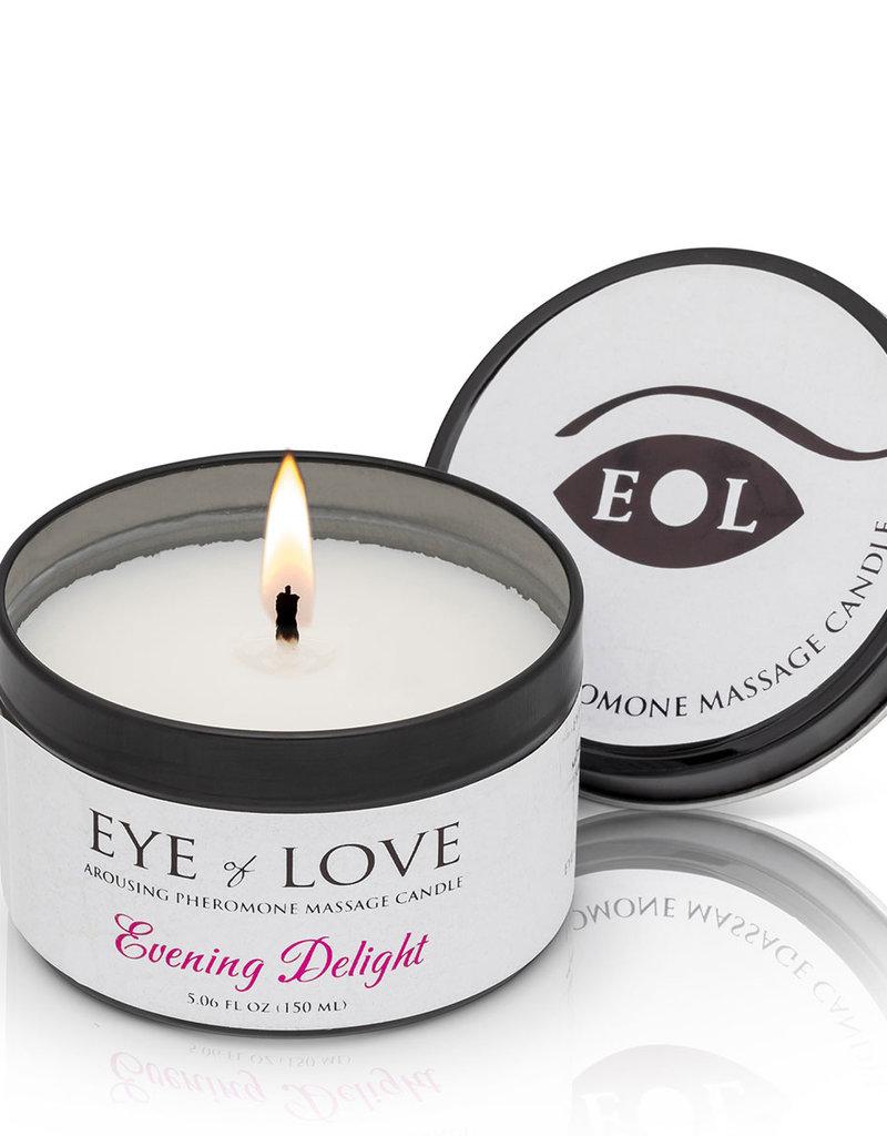 Eye of Love Pheromone Massage Candle 5oz – Evening Delight