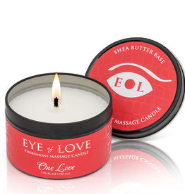ENTRENUE Eye of Love Pheromone Massage Candle 5oz – One Love
