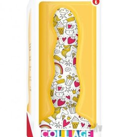 ICON BRANDS Collage Cupcakes And Unicorns Curvy Dildo