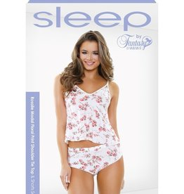 Rosalie Modal Floral Print Shoulder Tie Top Shorts Set Sleep