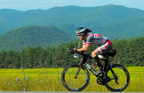 Jorge cycling Ironman Lake Placid