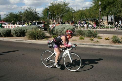 Katie racing in Ironman