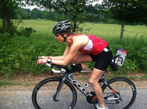 Katie Racing Ironman in 2011