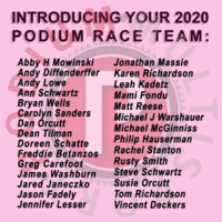 The 2020 Podium Race Team