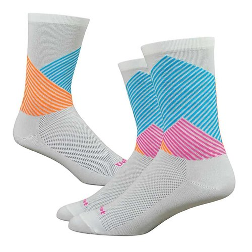 "DeFeet DeFeet 6"" ""COLOR MT"" White/Blue"