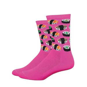 """DeFeet DeFeet Aireator 6"""" Socks Hi-Vis Pink"""
