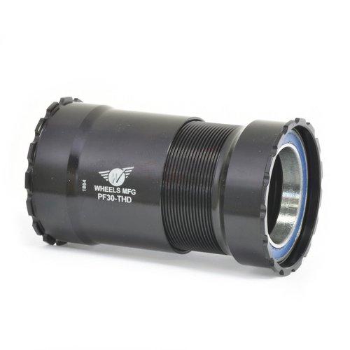 Wheels Manufacturing PressFit 30 Bottom Bracket with ABEC-3 Bearings: Threaded, Black