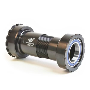 Wheels Manufacturing 386EVO Bottom Bracket - ABEC-3 Bearings, For 24mm (Shimano) Cranks, Black