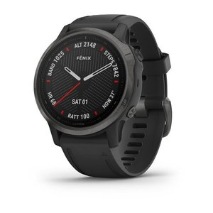 Garmin Garmin fenix 6S 42mm Sapphire Carbon Grey, Wristband: Black
