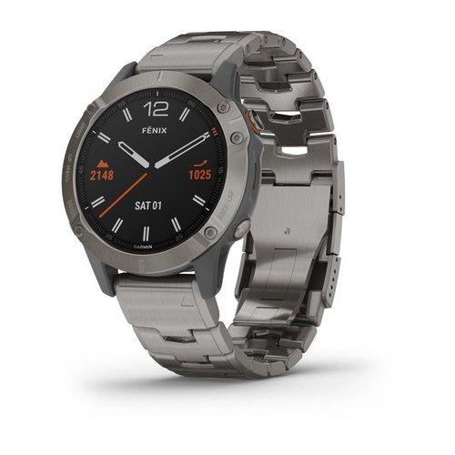 Garmin Garmin fenix 6 Sapphire 47mm Ti, Wristband: Titanium Bracelet