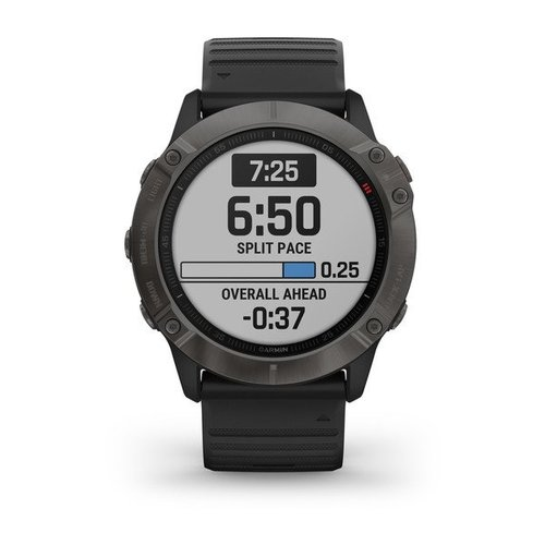 Garmin Garmin fenix 6X Sapphire 51mm Carbon Grey, Wristband: Black