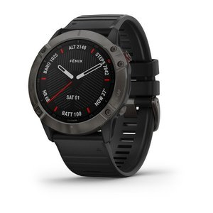 Garmin Garmin fenix 6X Sapphire 51mm Carbon Grey, Wristband: Black