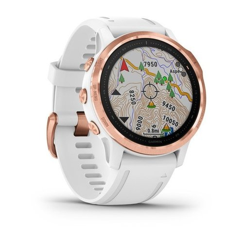 Garmin Garmin fenix 6S 42mm Rose Gold, Wristband: White