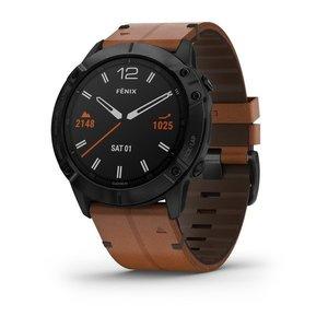 Garmin Garmin fenix 6X Sapphire 51mm Black, Wristband: Chestnut Leather