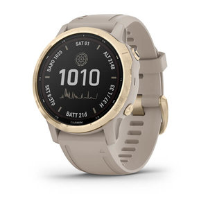 Garmin Garmin fenix 6S Solar 42mm Light Gold, Wristband: Sand