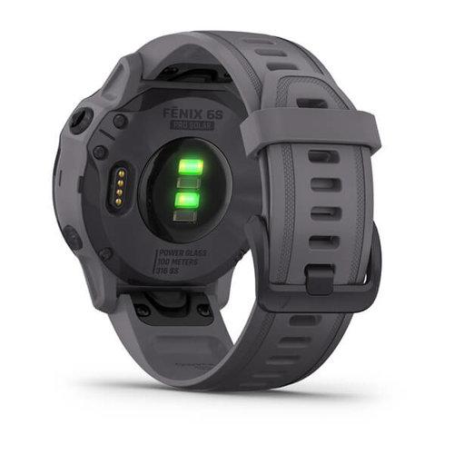 Garmin Garmin fenix 6S Solar 42mm Amethyst Steel, Wristband: Shale Grey