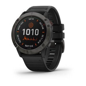 Garmin Garmin fenix 6X Solar 51mm Ti Grey, Wristband: Black