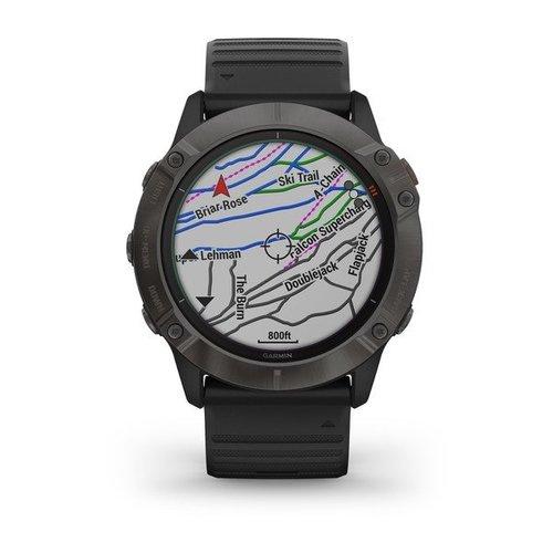 Garmin Garmin fenix 6X Solar 51mm Ti Grey, Wristband: Black