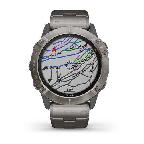 Garmin Garmin fenix 6X Solar 51mm Ti, Wristband: Vented Ti Bracelet